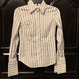New York & Co. Striped Button up Shirt